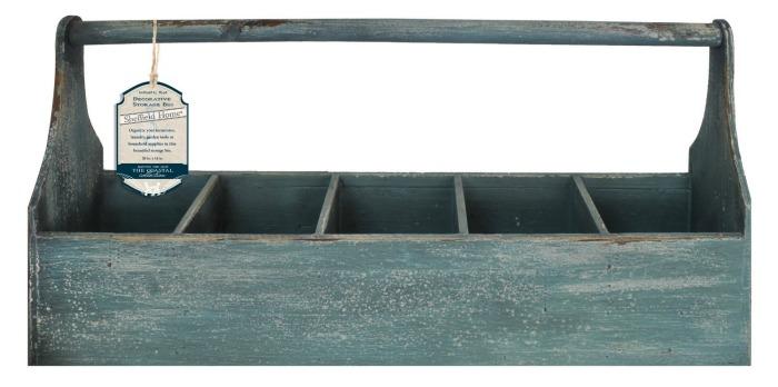 wooden storage tote bin