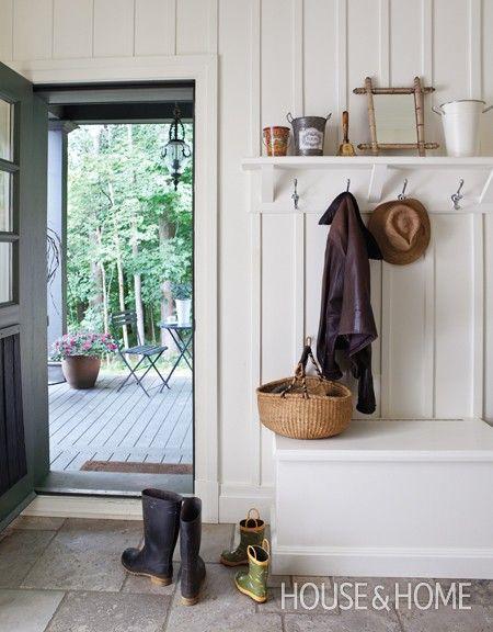 Farmhouse Shelf Coat Rack