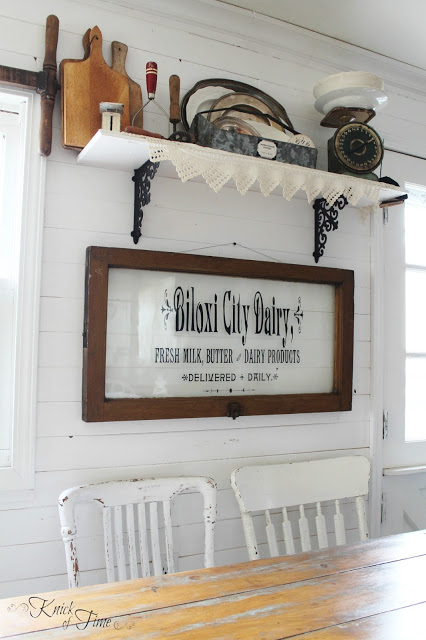 Repurposed Window Farmhouse Sign - KnickofTime.net