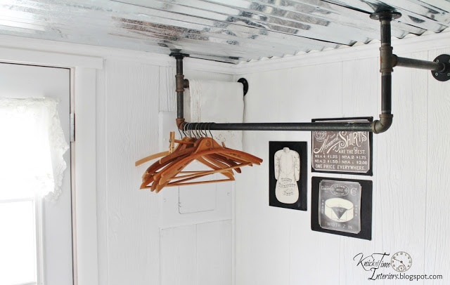 DIY plumbing pipe clothes rack