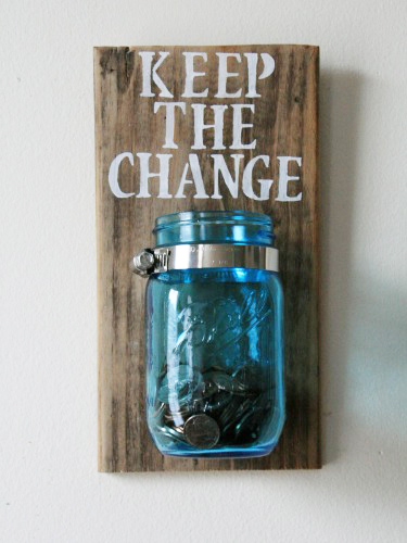 Mason Jar Ideas Laundry Room Loose Change Jar