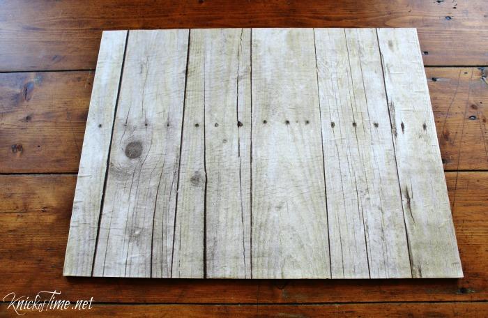 Chalkboard And Weathered Wood Reversible Wall Art Knick