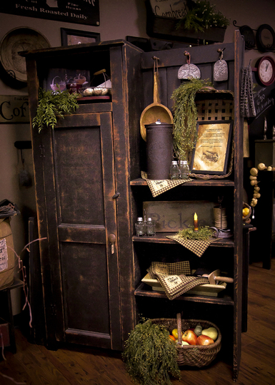 Farmhouse friday primitive decor knick of time for Witches kitchen ideas