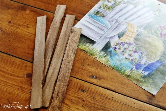 repurposed paint sticks
