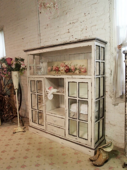 Farmhouse friday repurposed doors and windows knick of - Cabinet made from old doors ...