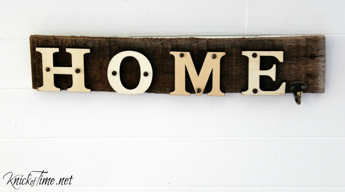 Rustic pallet wood home sign with wooden letters - KnickofTime.net
