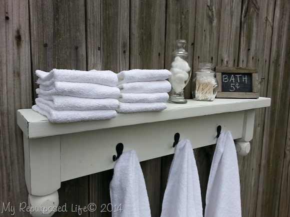 headboard towel rack