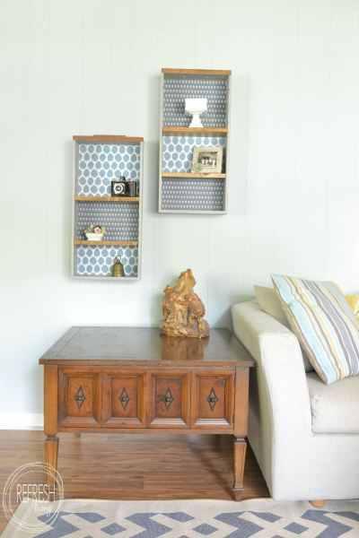 Repurposed Drawers Shelves
