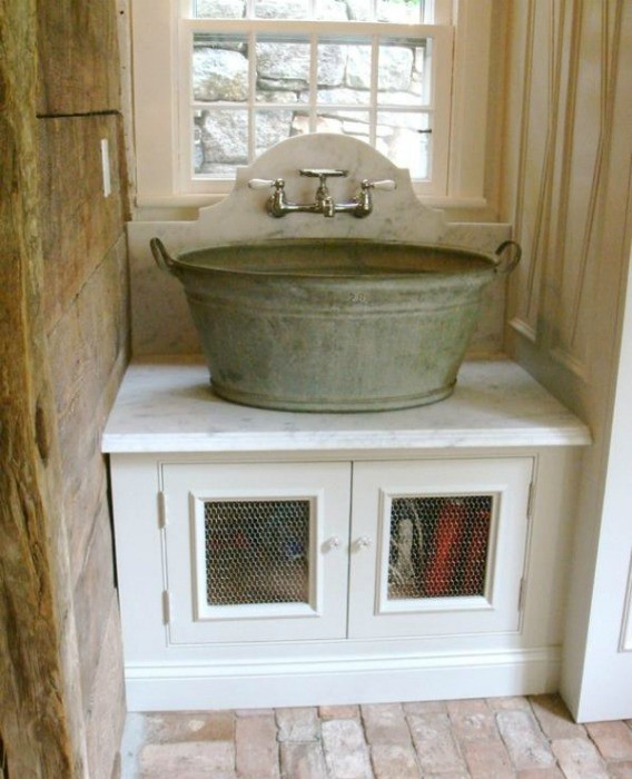 Repurposed Wash Tub Sink
