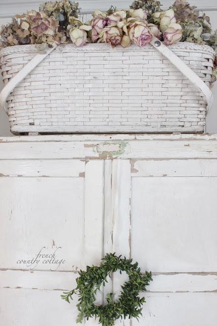 White Vintage Basket