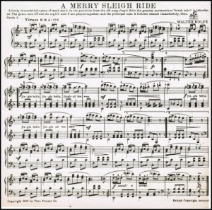 Jingle Bells Sleigh Ride printable antique sheet music - KnickofTime.net