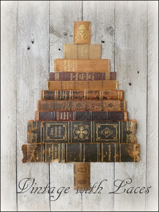 Repurposed Books Spine Christmas Tree