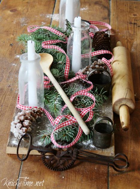 Farmhouse Christmas Centerpiece Tutorial - KnickofTime.net