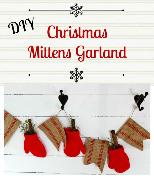 DIY Christmas Mittens Garland - KnickofTime.net