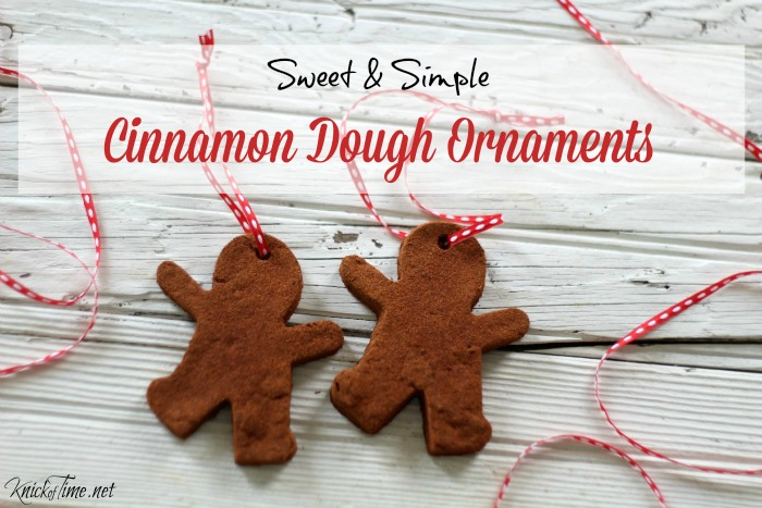 DIY cinnamon dough ornaments - KnickofTime.net