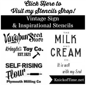 Knick of Time Vintage Sign Stencils Shop - KnickofTime.net