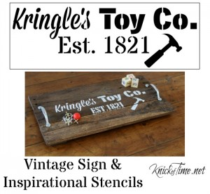 Kringles Toy Co. stencil by Knick of Time's Vintage Sign Stencils - KnickofTime.net