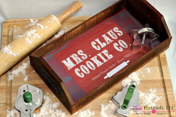 Mrs. Claus wooden Christmas Tray