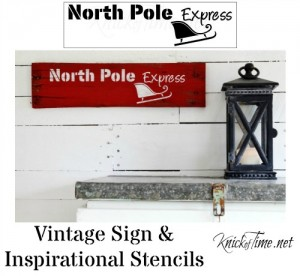 North Pole Express Christmas Stencil from Knick of Time's Vintage Sign Stencils - KnickofTime.net