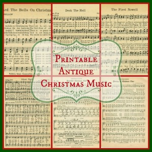Printable Christmas Music - KnickofTime.net