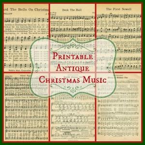 Printable Christmas Music - KnickofTime.net