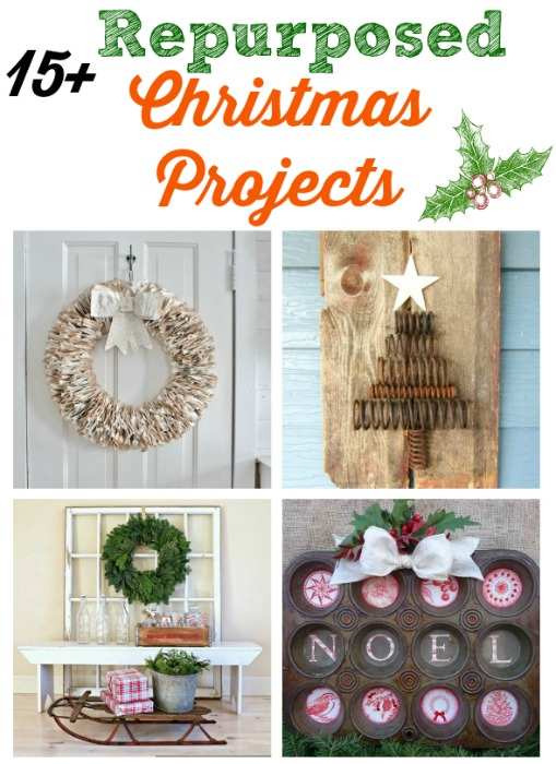 turn salvaged junk into unique repurposed christmas projects knickoftimenet