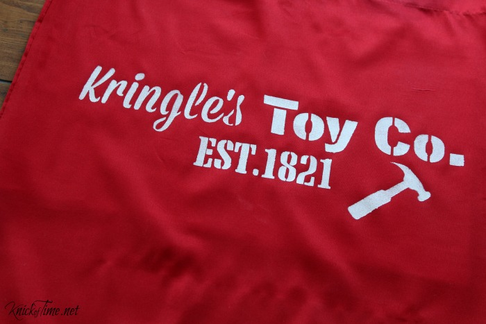 Stencil a Santa's toy bag with Knick of Time's Vintage Sign Stencils