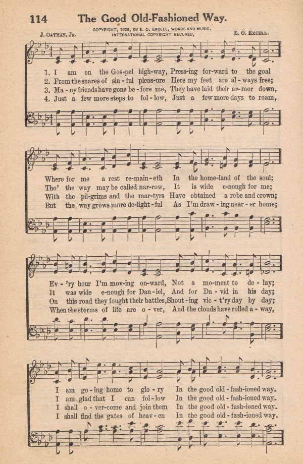 The Good Old-Fashioned Way - Antique Hymn Book Page - KnickofTime.net