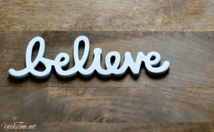 believe christmas sign 3 attach word to the wood with e6000 or hot glue
