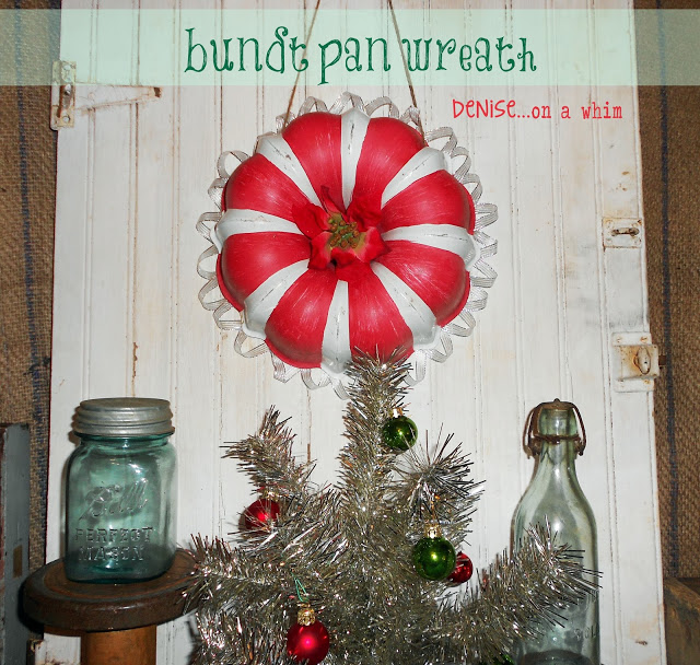 candy cane baking pan wreath