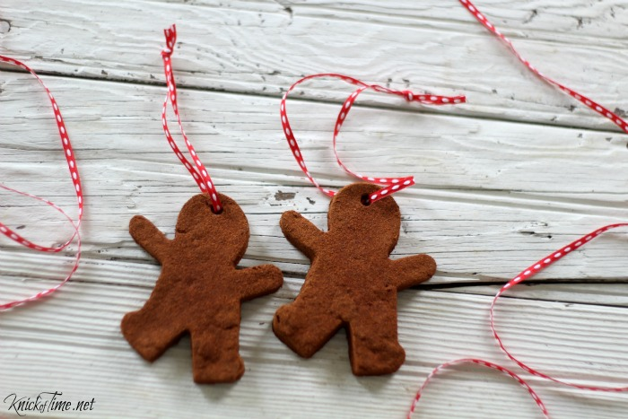 cinnamon dough recipe gingerbread man ornaments - www.knickoftime.net