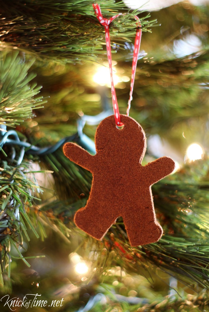 gingerbread men cinnamon dough ornaments - KnickofTime.net