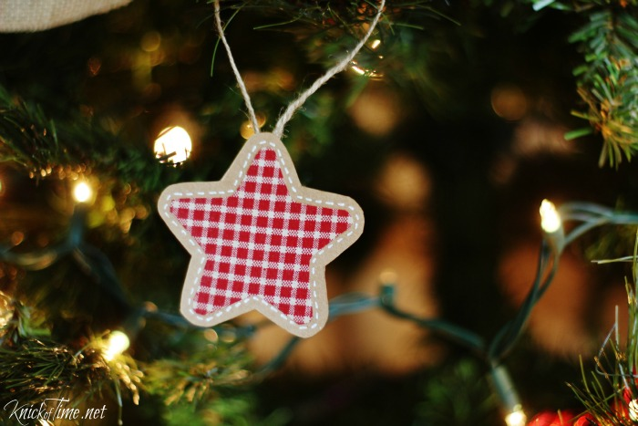 handmade brown paper and fabric ornaments - knickoftime.net