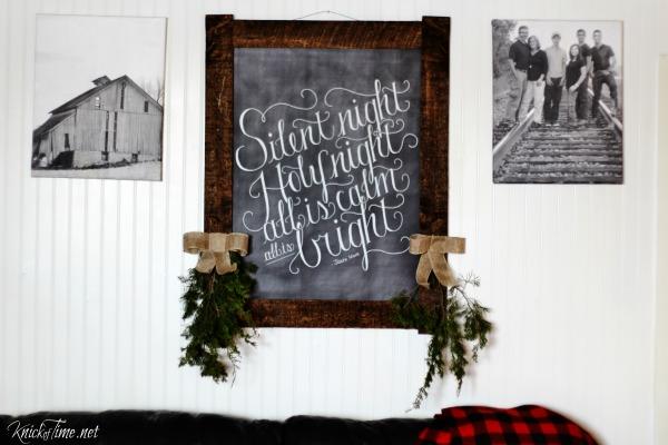 chalkboard Christmas wall art - knickoftime.net