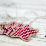 Gingham and Brown Paper Ornaments