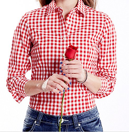 red plaid gingham shirt