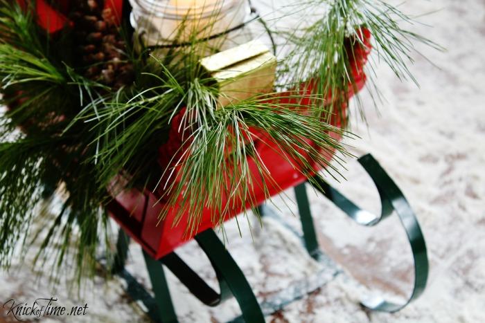 Sleigh runners on Santa's sleigh Christmas decor