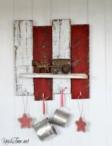 Make Rustic Christmas Shelf with Scrap Wood
