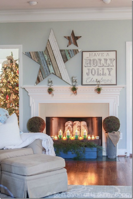 reclaimed wood star - repurposed Christmas projects