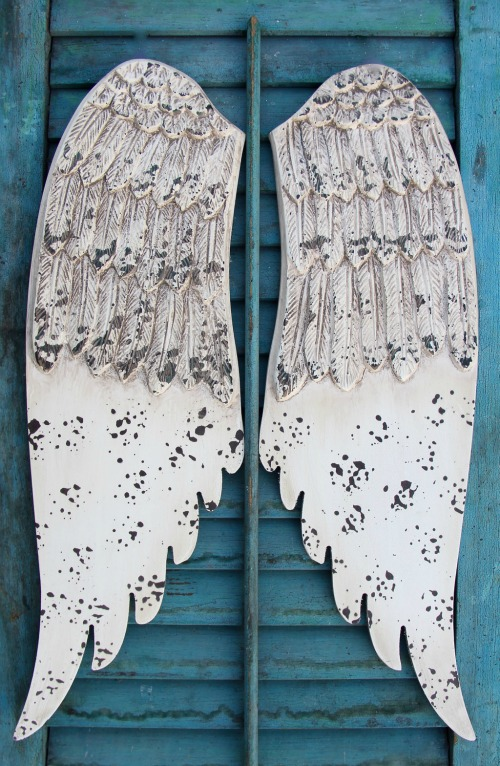 shabby chic angel wings