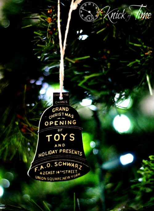 Antique Advertisement Christmas Ornament