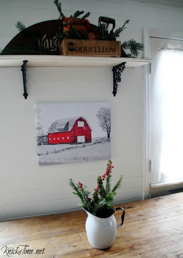 Christmas kitchen wall - KnickofTime.net