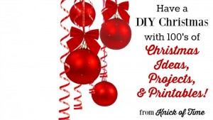 Homemade Christmas Ideas, Projects, Printables
