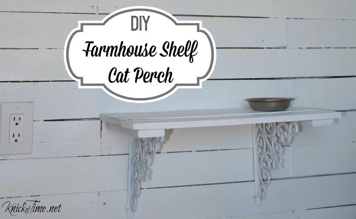 Pallet Wood Farmhouse Shelf Perch for Cats - KnickofTime.net