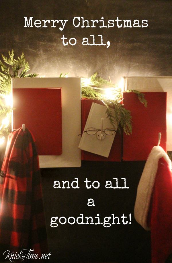 DIY Santa Claus inspired coat rack - KnickofTime.net