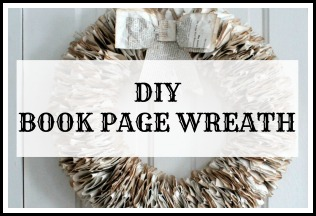 DIY book page Christmas wreath