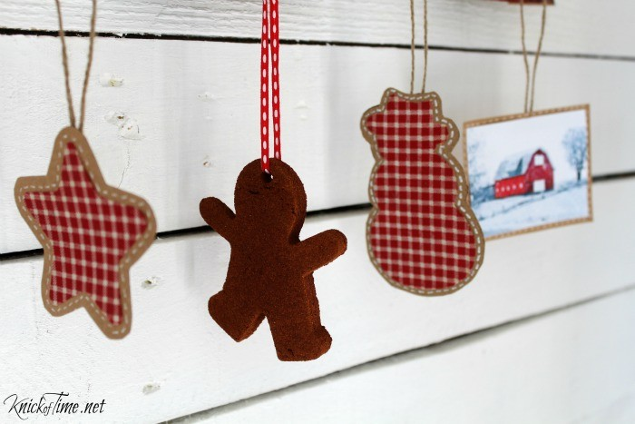 Farmhouse Christmas Ornaments at the Welcome Home Christmas Tour at KnickofTime - KnickofTime.net