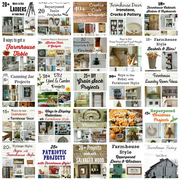 Farmhouse style decor and DIY projects, including 100's of features - KnickofTime.net