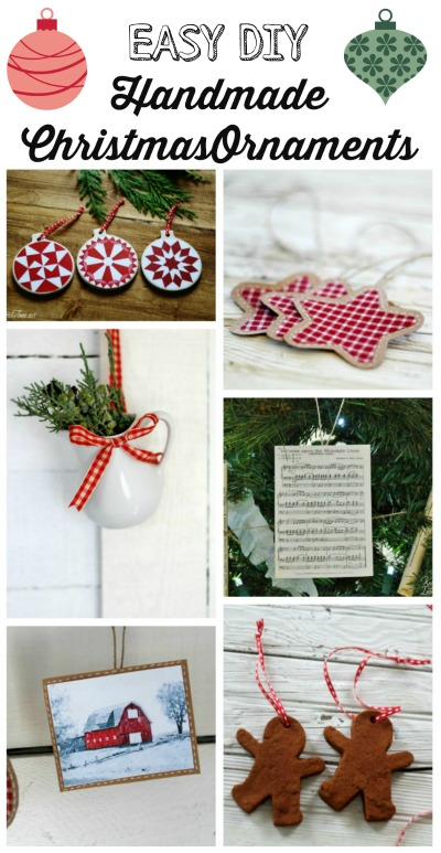 Handmade DIY Christmas ornaments by Knick of Time