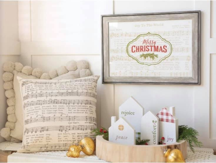Chalk Couture Joy to the World Hymn DIY projects
